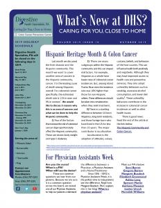 October 2019 Newsletter for referral coordinators