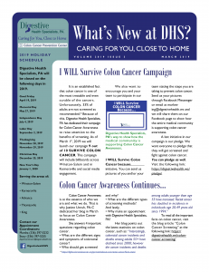March 2019 newsletter for referral coordinators