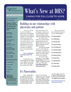May 2019 newsletter for referral coordinators