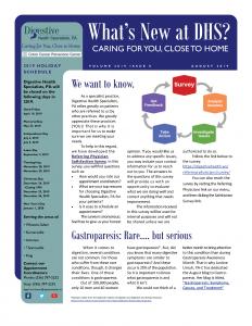 August 2019 newsletter for referral coordinators