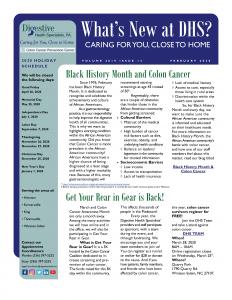February 2020 newsletter for referral coordinators