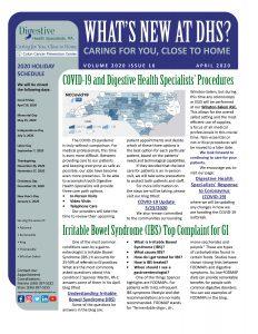April 2020 newsletter for referral coordinators