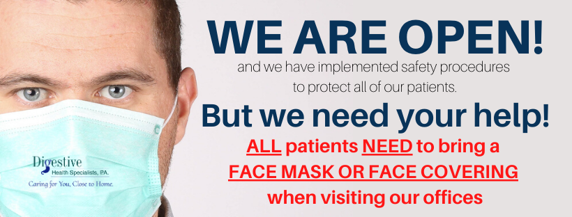 We need all patients to wear face masks to our clinic.