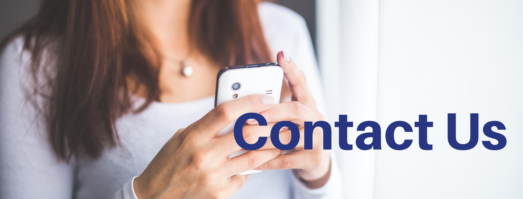 Contact Us page header