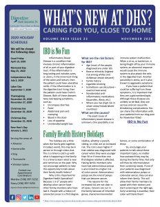 November 2020 newsletter for referring practices