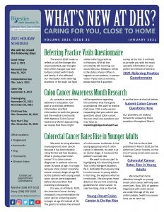 January 2021 newsletter for referring practices