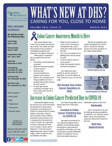 March 2021 newsletter for referring practices