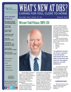 Special edition newsletter introducing Todd Pittman, CEO