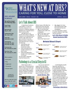 April 2021 newsletter for referring physicians, on IBS.