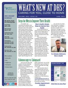 June 2021 referring practice newsletter about men's health needs