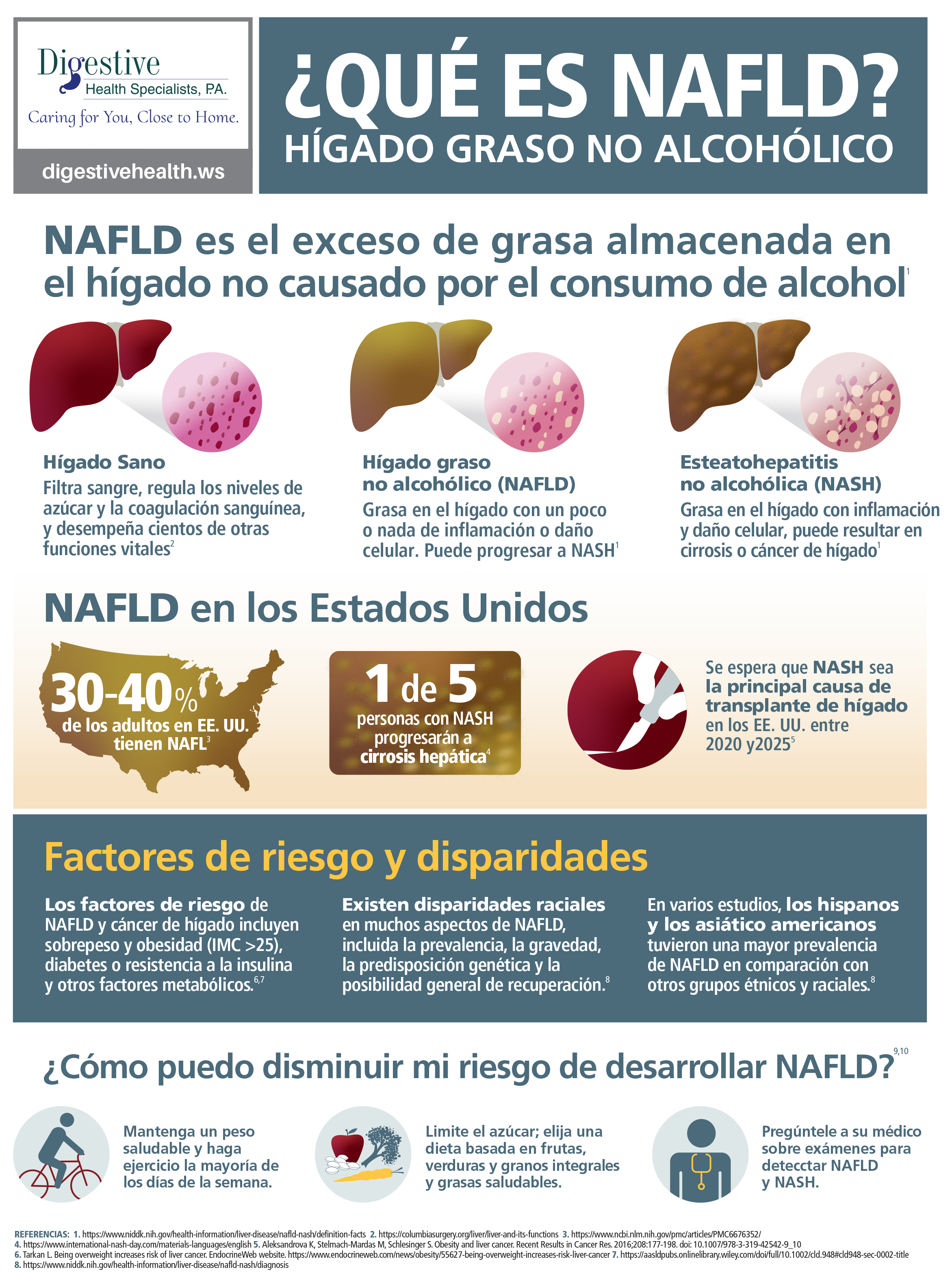 Nonalcoholic fatty liver disease information in Spanish